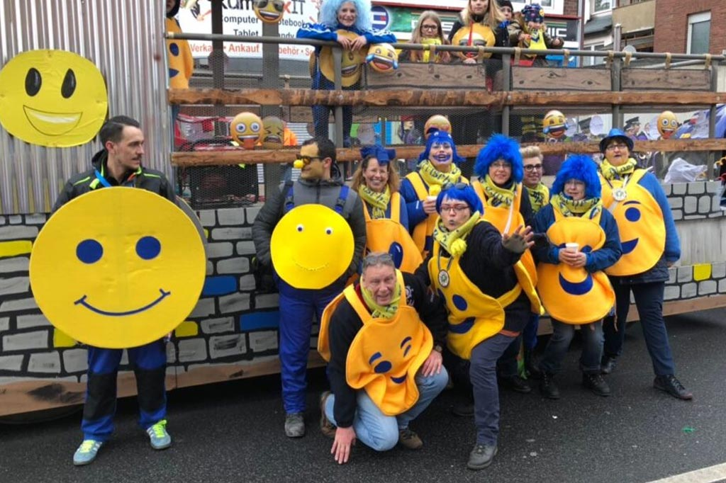 Fußgruppe der Närrischen Nord Dürener beim Dürener Karneval